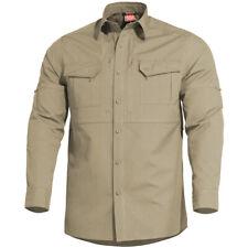 Pentagon Plato Tactisch Overhemd Heren Lange Mouw Leger Sneldrogend Ademend Kaki