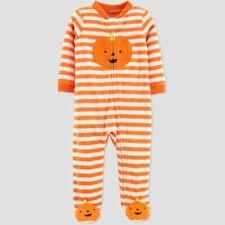 Baby Girls' Halloween Pajama Sleep N' Play Orange Pumpkin - Carters NB 3M #120
