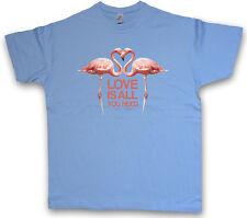 Love is all you need Flamingos T-shirt Flamingo Principessa Fiabe FREE