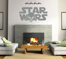 STAR WARS LOGO Decal WALL STICKER Art Home Decor Silhouette Darth Vader SST021