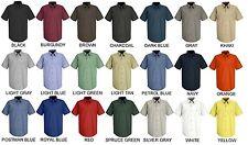Lot of 6 Short Sleeve Uniform WORK SHIRTS U Choose Size & Color Red Kap SP24