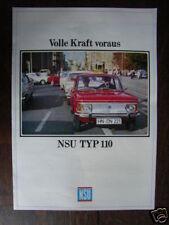 NSU Typ 110 Prospekt / Brochure, D