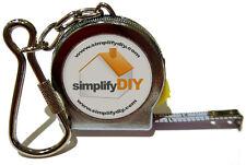 Tape Measure Keyring - 100cm/39in metal tape in tough metal casing