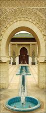 Papier peint pour porte trompe l'oeil déco Fontaine orientale réf 305