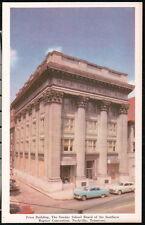 NASHVILLE TN Baptist Sunday School Board Frost Building Vtg 1950's Car Tennessee