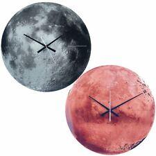 Karlsson Mirror Glass 60cm Wall Clock Mars or Moon Modern Home or Office