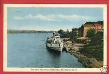 FREDERICTON NB CANADA ST JOHN RIVER SHIP 1940  POSTCARD