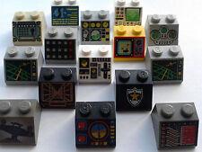 LEGO PRINTED DECORATED 2X2 BRICKS  SPACE