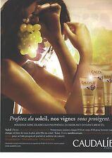 PUBLICITE  ADVERTISING 2008  CAUDALIE cosmétiques produit de beauté