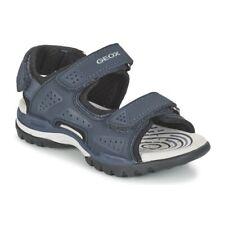 Geox j720rb blu sandalo bambino con strappi