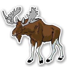 2 x Moose Vinyl Sticker iPad Laptop Helmet Luggage Travel Canada Deer Gift #4504