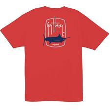 Guy Harvey Men's Barrel Logo Short Sleeve Fishing Boat T-shirt. Pick Size. Lava