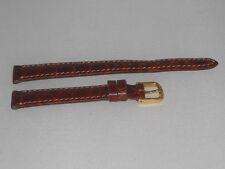 Cinturino Donna pelle ribordato brown stampa coccodrillo ansa 12 fibbia b8