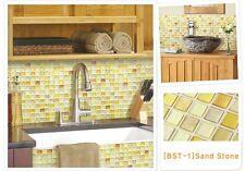 Aluminum Mosaic Tile Sheet Home Kitchen Bathroom Backsplash Wallpaper Decor DIY