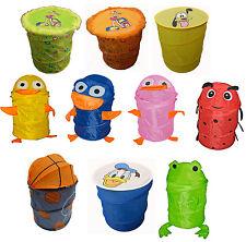 Pop-up Kids Animal Foldable Storage Wash Laundry Bin Toys Tidy Basket Ottoman UK