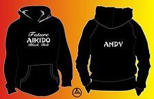 Personalised Children's Baby Hoody Aikido Black Belt Martial Arts 1 2 3 4 5 6 7