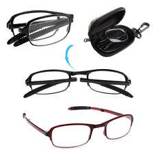 Unisex Foldable Reading Glasses Eyeglass With Case +1.0+1.5+2.0+2.5+3.0+3.5+4.0