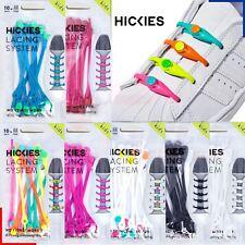 Hickies 2.0 Kids Shoe Laces x10 Junior No Tie Elastic Lacing Boys Trainers