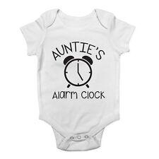 Auntie's Alarm Clock Cute Boys and Girls Baby Vest Bodysuit