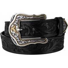Tony Lama Western Mens Belt Leather Westerly Ride Black C41513