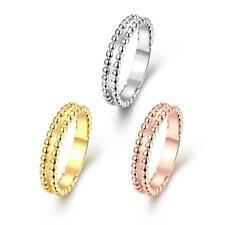 Rose Gold Platinum Plated Band Wedding Plain Ring For Women B271