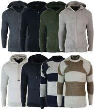 Gilet homme pull fermeture éclair avec capuche tricot épais laine mélangée