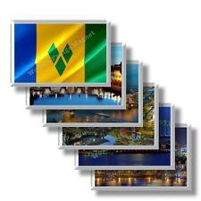 VC - Saint Vincent e Grenadine - frigo calamite da frigorifero souvenir magneti