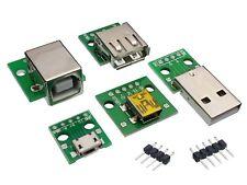 USB Adaptador PCB-Hazlo tú mismo Dip Breadboard módulos tipo A (M/F)/B/Mini/Micro