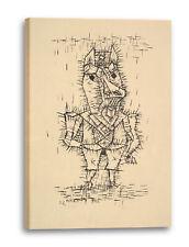 Lein-Wand-Bild Kunstdruck: Paul Klee - Ass (Esel) (1925)