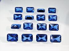 Dark Aquamarine Blue Octagon Princess Cut SIZE CHOICE Loose Spinel Gemstones