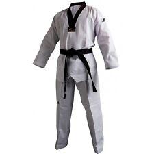 adidas Taekwondo CHAMPION 2 Uniform With Black V-Neck - TCH02-W/B