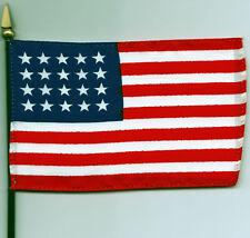 """20 Star USA Flag - (1818-1819) 4""""x6"""" Flag on Pole NEW"""