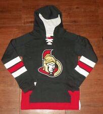 Ottawa Senators Youth Laced Up Primary Logo CCM Hoodie S-8, L-14/16