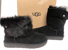 UGG Australia VALENTINA CRYSTAL Black TOSCANA SHEEPSKIN BOOTS 1012388