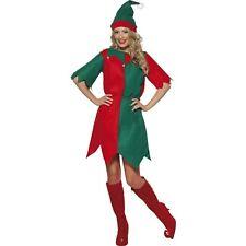 Christmas Elf Santa's Little Helper Season Womens Ladies Fancy Dress Costume