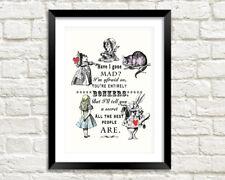 HAVE I GONE MAD? Alice in Wonderland Bonkers Art Print
