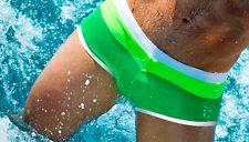 Aussiebum Swimwear Men's Surf Swim Brief Bikini Green Hot & Sexy Size S M L XL