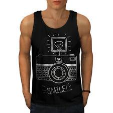Appareil photo sourire photo drôle hommes Tank top New | wellcoda