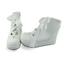 weiß lolita Shoes damen-schuhe white keilabsatz wedges sneaker trends Plateau