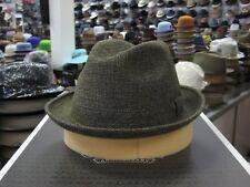 DORIA BY BORSALINO MULTI (OLIVE GREEN TWEED) COLOR FEDORA HAT