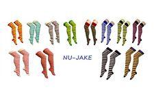 Las nuevas señoras por encima de la rodilla Stripy/Stripey/Calcetines Rayados Variedad De Colores Sox