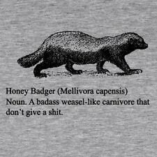Honey Badger T shirt funny badass He don't give a sh#t! Womens 10 W45cm L62cm