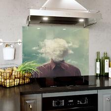 Verre Splashback Cuisine Tuile Cuisinière Panneau Tout Taille Tête en The Clouds