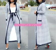 Combinaison Three Piece Set Women Bodysuit Long Sleeve Plaid Out fit Jumpsuit J3
