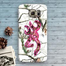 Camo Deer Head Pink Snow Galaxy S8 S7 S6 S5 S4 S7 Edge,S6 Edge+ S8 plus Case