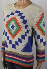 Ralph Lauren Cream Navajo Print Crewneck Sweater NWT $155