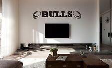 Bradford Bulls Rugby Wall Art Autocollant, Decal, toute surface plane, voiture de vinyle, verre