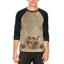 Halloween Kangaroo Costume Mens Raglan T Shirt