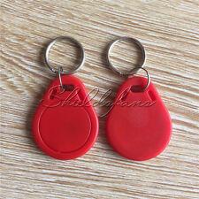 5/10/20/50/100PCS Red RFID IC Key Tags Keyfobs Token NFC TAG Keychain 13.56MHz