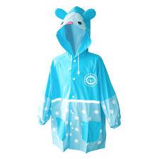 Children's raincoat boy's girl's rainwear soft waterproof Hooded waterproof Long